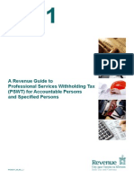 A Revenue Guide to Professional Services Withholding Tax (PSWT) for Accountable Persons and Specified Persons