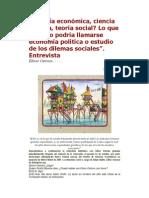 Ostrom- Teoría Economica, Ciencia Politica, Teoria Social