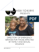 Meri Toksave Directory of Emergency Services for Those Affected by Family and Sexual Violence 2013
