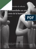 Las Humanidades en Crisis o La Crisis de La Humanidad