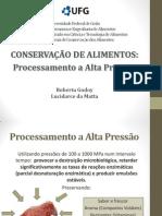 Conservação de Alimentos-Processamento a Alta Pressão