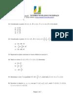 UAB - AL e GA - Sergio Mendes - Lista Exercicios 04 - Vetores No Plano e No Espaço