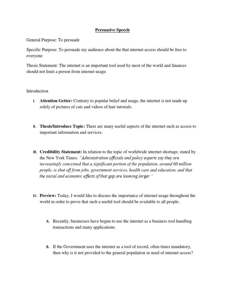 persuasive belief speech topics