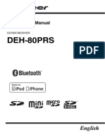 Pioneer DEH 80PRS Operation Manual