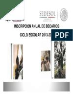 Asistencia Social Nscripcion de Becarios 2013-2014 Art. 32 Punto III Inc. b