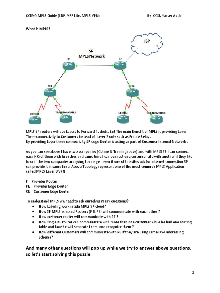 Yasser Auda Cciev5 Mpls Guide ( Ldp, Vrf Lite , Mpls VPN ...