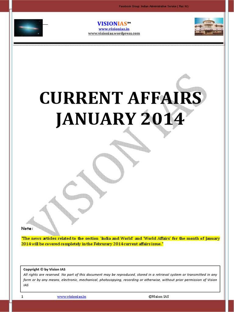 Vision IAS Jan-May 2014 Current Affairs | Pardon | Supreme