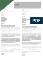 Activity - formal letter