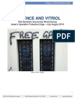 Adl Report on Anti Semitism During Ope July Aug 2014