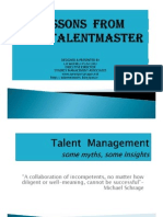 Lessons From the Talentmaster