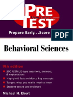 Pretest Behavioral Sciences 9th Ed - M. Ebert (2001) WW