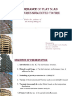 Performance of flat slab structures subjected to fire