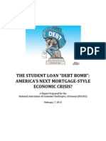 NACBA Student Loan Debt Report