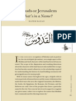 Al-Quds Article in Seasons-libre
