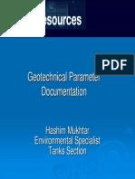 Geo Tech Parameter