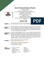 Manuel Ernesto's Resume