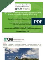 Opciones tecnológicas para mejorar la huella hídrica y la sostenibilidad productiva
