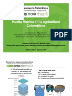 Huella hídrica en la agricultura colombiana