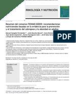 Consenso FESNAD-SEEDO Prevención y Tratamiento Del Sobrepeso y Obesidad 2013 OK