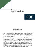 Job Evaluation L 11