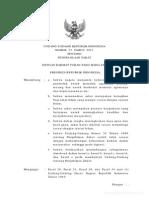 UU No 23 Tahun 2013 Tentang Pengelolaan Zakat