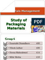 Study of Packaging Materials