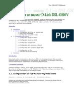 Configurer un routeur D-Link DSL-G804V