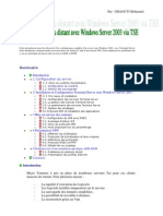 Mise en place d'un réseau distant avec Windows Server 2003 via TSE