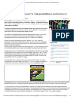 Bangalore to Host Country's First Global Bitcoin Conference in December - The Economic Times