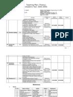 Teaching Plan - CPR FYIF (2008-2009)