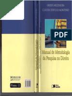 Manual de Metodologia Da Pesquisa No Direito - Orides Mezzaroba