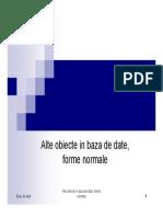 BD7_alte Obiecte in Baza de Date, Dependente Functionale_2013