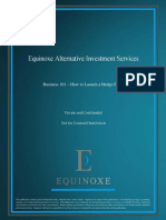 Equinoxe - How to Launch a Hedge Fund