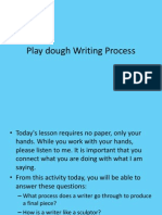 play doh writing process