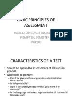 3- Basic Principles of Assessment
