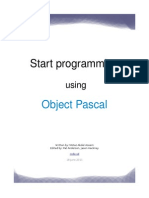 Start Prog Using Pascal