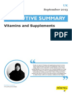 Vitamins and Supplements - UK - September 2013 - Executive Summary