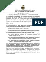 Edital Mestrado Design 2014