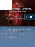 Cancer Prevention, Screening, & Early Detection