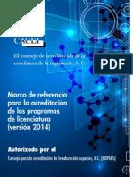 Nuevo Marco de Referencia CACEI 2014