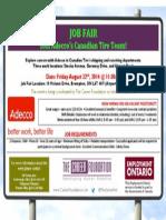 Job Fair Adeccos Canadian Tire Team Friday August 22 2014 @11 30 Am