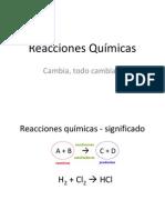 Clase de Reacciones Quimicas y Balanceo de Ecuaciones