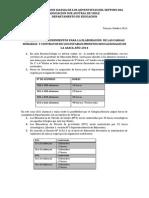 Criterios Para La Elaboración de Cargas Académicas