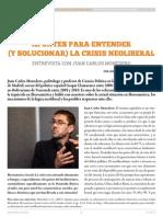Apuntes Para Entender y Solucionar La Crisis Neoliberal. Entrevista Con Juan Carlos Monedero