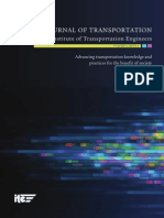 Journal of Transportation of ITE Vol 1.1