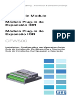 WEG Cfw500 Ior i o Expansion Modules 10002046570 Installation Guide English