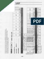 DX7 - Voice Data List