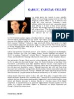 Gabriel Cabezas, Cellist - PK2014