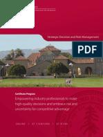 Strategic Decision and Risk Management (SDRM at Stanford) - Brochure