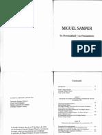 Miguel Samper, Personalidad y Pensamiento